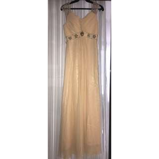 (FREE SHIPPING) Semplice Peach Formal Gown