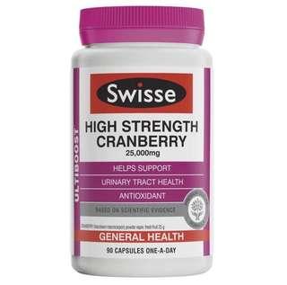 現貨Swisse高濃度蔓越莓精華膠囊 90粒