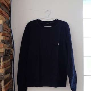 Collezione C2 Custom Fit Dark Blue Long Sleeves