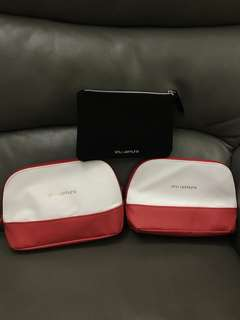 Shu Uemura White & Red Black Makeup Bag Storage Bag 植村秀 白紅 黑 化妝袋 收納袋 (Total 3 items 3個)