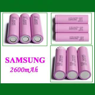 100% Samsung 2600mAh 3.7V 18650 Rechargeable Lithium Battery