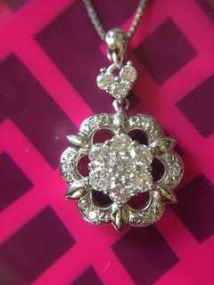 🔥🔥 超靚 鉑金 天然鑽石頸鏈 🔥🔥