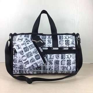 LeSportsac 黑白色中型旅行袋