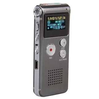 846. Aketek Multifunctional Rechargeable 650HR 8GB Digital Audio Voice Recorder/Dictaphone/MP3 Player (Grey)