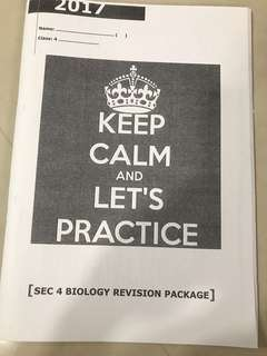 Sec 4 Biology Revision Package