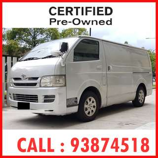 $779 / mth Only - Toyota Hiace (New 5-yr COE) - ( Ref : 2124 )