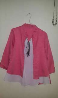 Blouse pink white