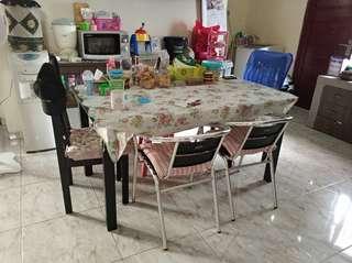 Meja makan 6 kursi murah jual cepat