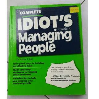 🚚 (New) Book: The Complete Idiot's guide to Managing People