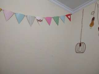 Triangle Birthday Paper Flags