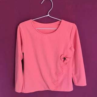 Baby Pink Long Sleeve Top
