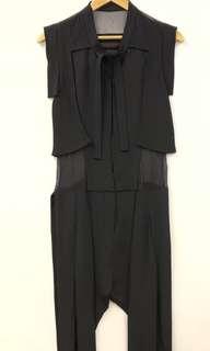 Jean-Pierre Braganza black jumpsuit 連身褲 size M