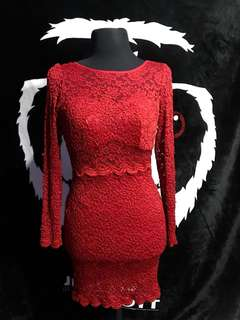 RED ELEGANT DRESS/ CASUAL/ PARTY DRESS