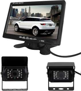 "Reverse Cameras w 7"" Colour LCD Monitor"