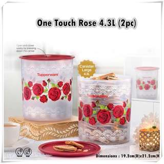 Tupperware Rose One Touch 4.3L (option)