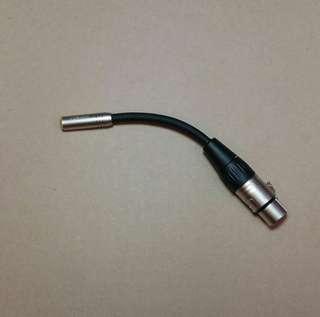XLR female to 3.5mm female adapter