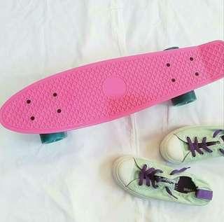 Hot Pink Penny Board / Skateboard / Cruiser