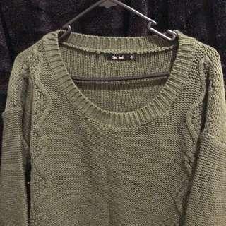 Khaki Knitted Sweat