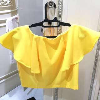 Sunny bright yellow top