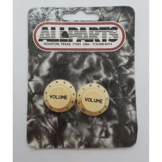 Set of 2 Cream Volume Knobs (by Allparts)
