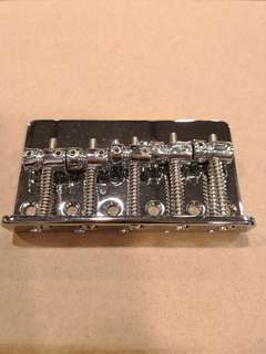 5 string bass bridge chrome