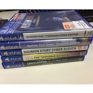 Selling PS4 Games at good price