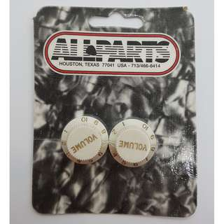 Set of 2 Parchment Volume Knobs (by Allparts)