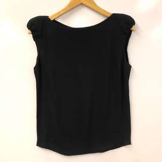 黑色背心 Veronique Leroy black vest top size 38