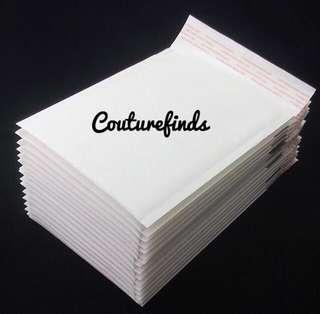 🚚 ✉️ INSTOCK Bubble Polymailer White Paper 18cm x 23cm