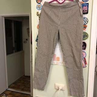Gingham vintage pants