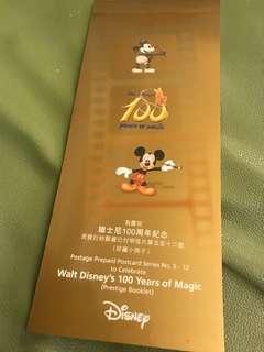 迪士尼100周年紀念明信片珍藏小冊子