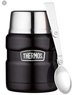 🚚 Thermos Stainless Steel King Food Jar 16oz in Matte Black