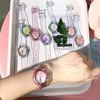 透明果凍裝飾手錶