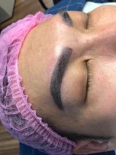 Eyebrow Mircostroking men's fengshui brows