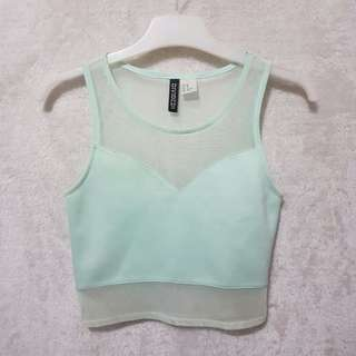 H&M mesh crop top