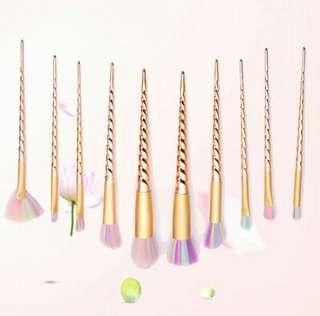 Unicorn make up brushes set