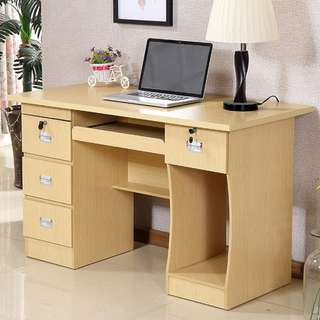 DESK with Multiple drawers and keyboard tray