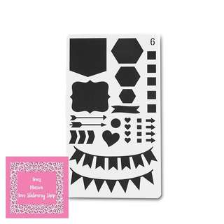 1pc Banner, Flags & Shapes Plastic Cutting Dies Stencil