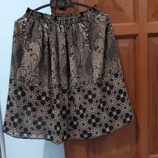 Rok batik coklat