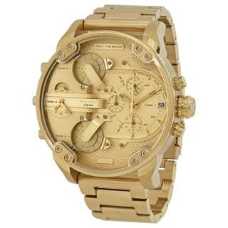 MR. DADDY 2.0 GOLD TONE DIAL MEN'S CHRONOGRAPH WATCH DZ7399