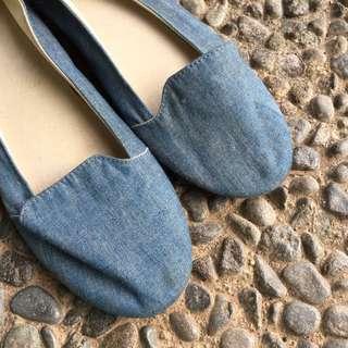 Denim Flat Shoes New Look