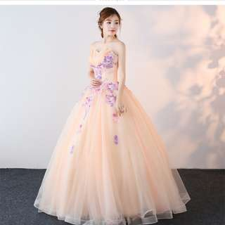 Pre order pink peach ball wedding bridal prom dress gown  RB0675
