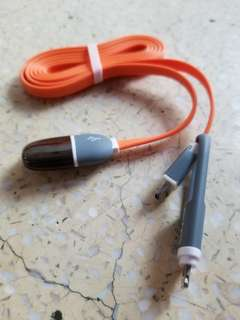 USB Cable 2 in 1 兩用 傳輸線 充電線 lightning iphone andriod