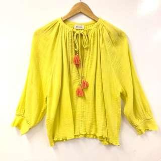 寬鬆上衣 Zadig & Voltaire yellow loose top size XS