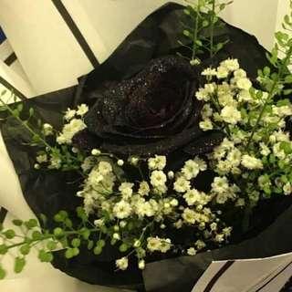1-Stalk Black🖤 Rose (Fresh Flower Bouquet)   Rose Flower   Flower Bouquet   Flower   Flowers   Fresh Flower   Rose   Roses