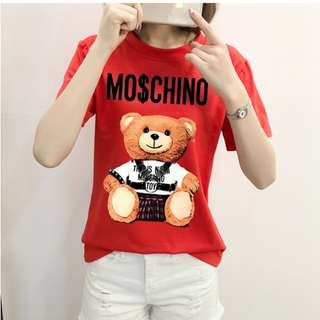 P12781 韓版背帶小熊印花上衣