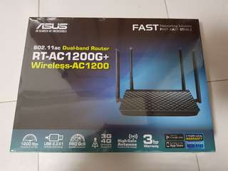 🚚 Asus Dual Band Wireless AC1200 Router