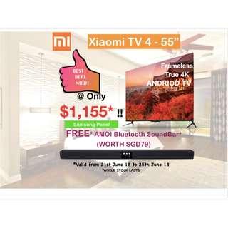 "TV Xiaomi TV 4 Android Smart TV- 55"" (4K)"