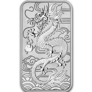 (多買有折) 現貨 包速遞 2018 澳洲 9999高純銀銀條 1 oz 東方神龍 收藏投資首選 全新 Silver Dragon