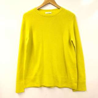 寬鬆衛衣 The Row yellow loose sweater size XS